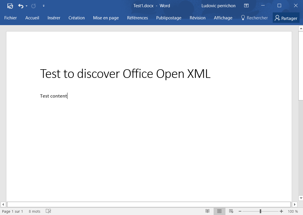 office open xml document to word